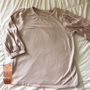 A New Dat pink mid sleeve blouse